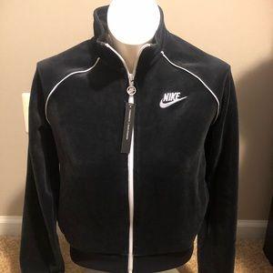 Nike velour black track jacket nwt